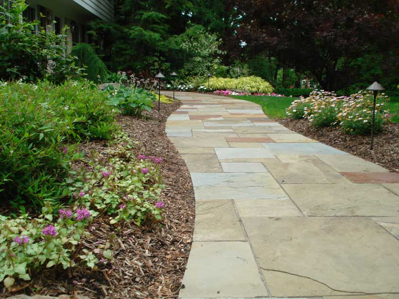 custom stone walkway projects exscape designs