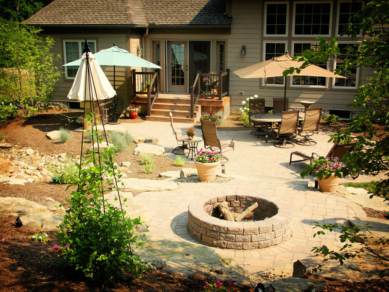 Backyard Fire Pit Ideas Firepit Pictures to pin on Pinterest