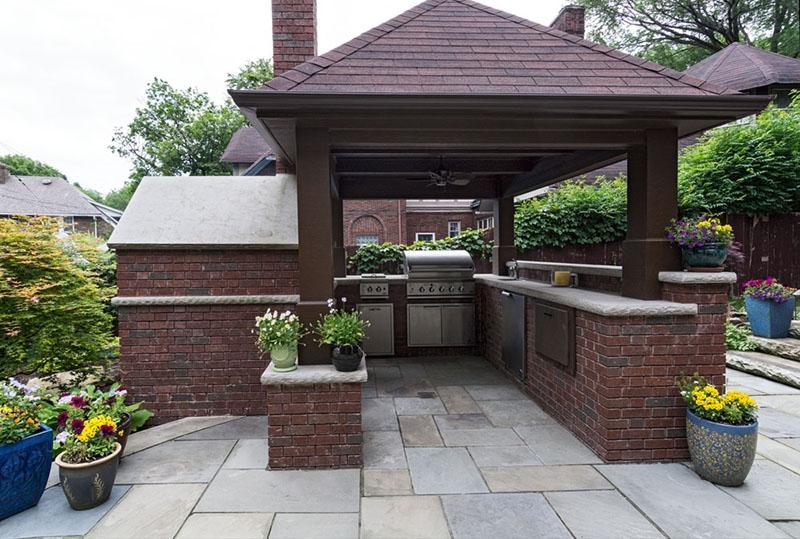 Custom outdoor kitchen designs exscape designs for Outdoor kitchen deck plans