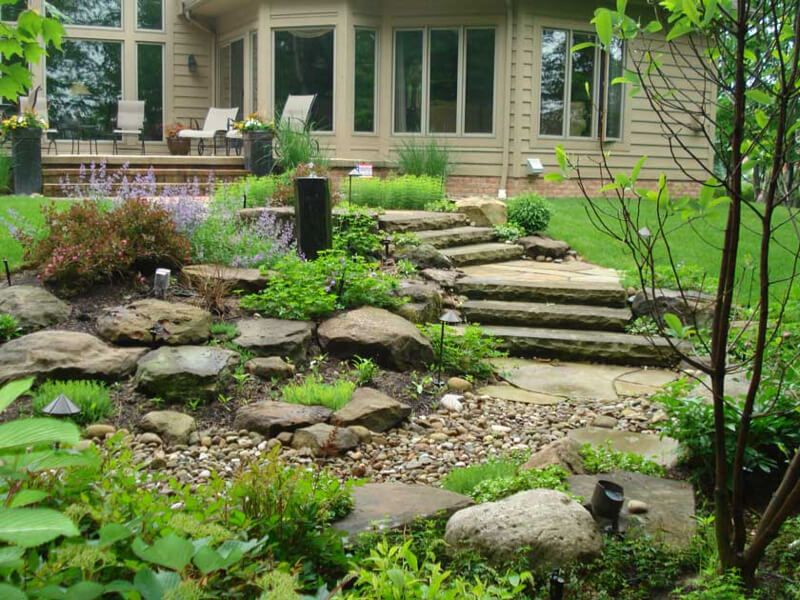... Stream Renovation Project; Water Garden Pathway. U003e