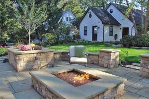 harcourt fire pit installation