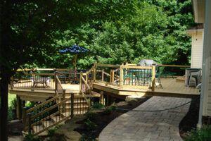 Backyard Multilevel Deck