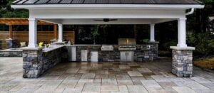Covered Outdoor Kitchen   Exscape Designs