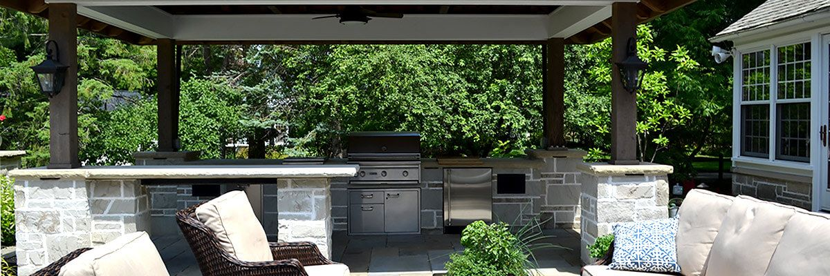 Backyard Patio Cooking Area